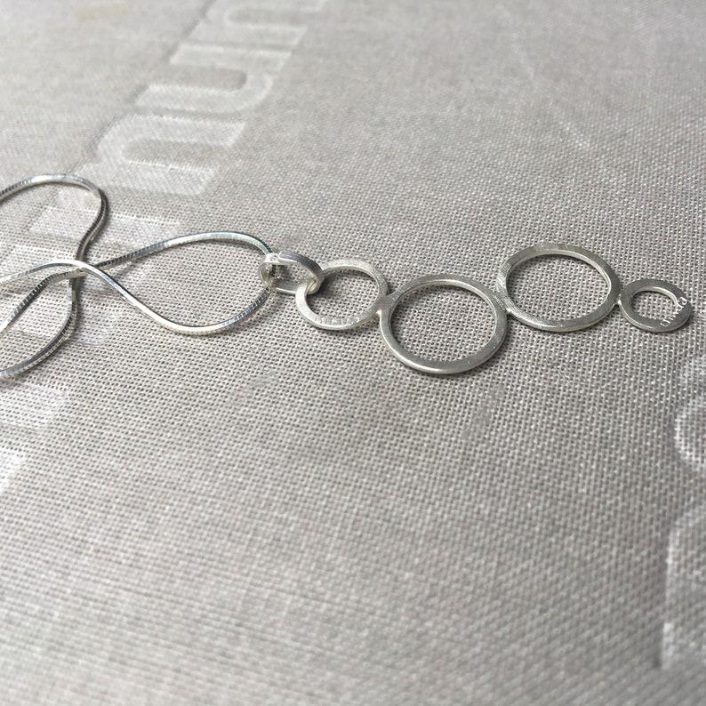 Large flat empty bubbles pendant!