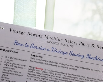 How to Service a Vintage Sewing Machine Flash Cards - *DIY*Wipes Clean*Laminated*Color Pictures*