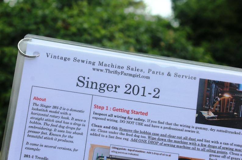 Singer 201-2 Sewing Machine FLASHCARDS image 0