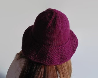 Burgundy Wool Bucket Hat 62916d4c3183