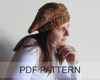 PDF Knitting Pattern Beret Hat, How to Make a Beret, Tam Hat