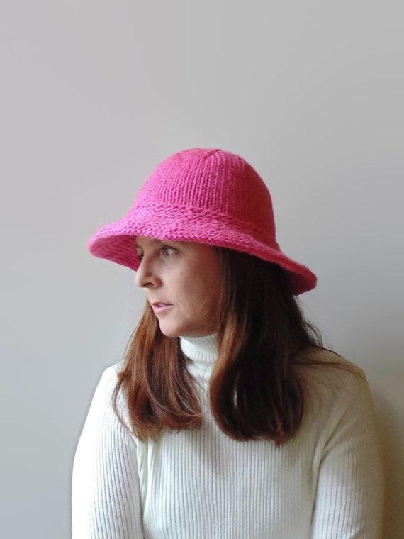 Hot Pink Wool Bucket Hat  997cb6fc2c4
