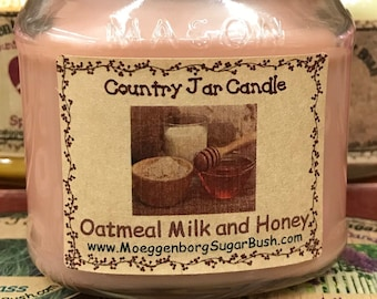 Jar Candle - Half Pint - Oatmeal, Milk, and Honey