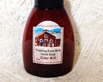 Foaming Hand Soap, Cider Mill, Teacher Gift, Housewarming gift, spicy apple,  Autumn, Fall, Moeggenborg Sugar Bush