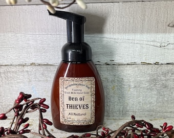 Den of Thieves, Thieves, Foaming Hand Soap, All Natural, Scented Soap Moeggenborg Sugar Bush