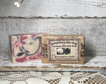 Goat Milk Soap, Black Raspberry Vanilla, One Bar,Cold Process,  Handmade, Mother's day, teacher gift, gift for her, Moeggenborg Sugar Bush
