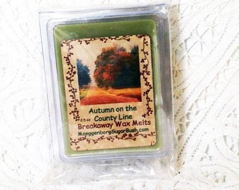 Wax Melts, Autumn on the County LIne, Wax Tart Melts,  Falling leaves,  clamshell tarts, gift, Moeggenborg Sugar Bush, Autumn Wax Melts