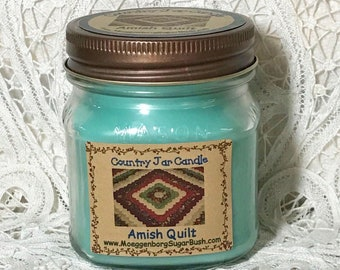 Jar Candle - Half Pint - Amish Quilt