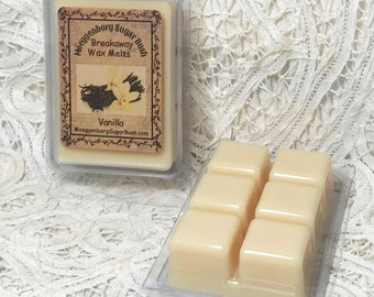 Wax Melts, Vanilla, two packages melts, breakaway melts, flameless scent, gifts for her, teacher, mom,  Moeggenborg Sugar Bush, candle melt