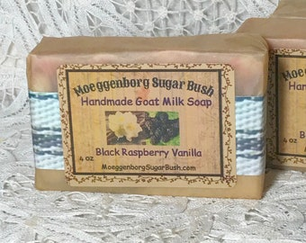 Goat Milk Soap, Black Raspberry Vanilla, Cold Process,  Handmade, Mother's day, teacher gift, gift for her, Moeggenborg Sugar Bush