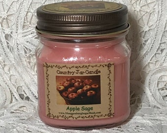Jar Candle Clove Mason Jar 1/2 pint candles  primitive scent Moeggenborg Sugar Bush