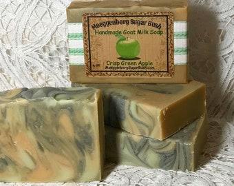 Goat Milk Soap, Crisp Green Apple, One bar, Moeggenborg Sugar Bush, Handmade soap, teacher gift, mother's day, girlfriend gift