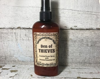 Room Spray, Thieves oil, rosemary,clove,lemon,eucalyptus, cinnamon bark,4 oz bottle,Made in the USA,Made in America, Moeggenborg Sugar Bush