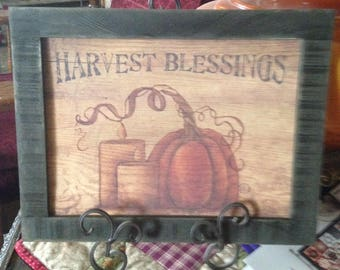 Harvest Blessings Framed Picture
