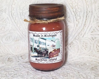 Made in Michigan Pint Jar Candle - Mackinac Island