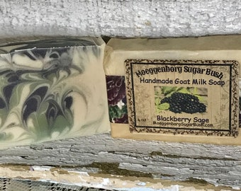 Goat Milk Soap, Blackberry Sage, One bar, Handmade, Cold Process, Mothers Day, Teacher gift, Moeggenborg Sugar Bush, hand made,