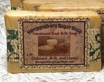 Oatmeal Milk Honey Goat Milk Soap Handmade Cold Process Goat Moeggenborg Sugar Bush