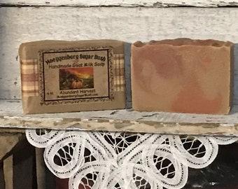 Goat Milk Soap, harvest,  Cold Process, handmade soap, Moeggenborg Sugar Bush, gift for her, teacher gift, girl friend gift, Country wares