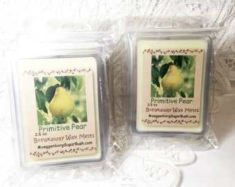 Wax Melts, pear scented, soy wax, Moeggenborg Sugar Bush, scented wax melts, wax tarts, anjou pear