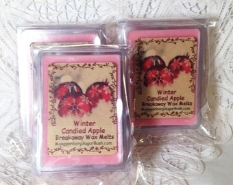 Wax Melts, Winter Candied Apple, Wax Tart Melts, Clamshell Tarts, Candle melts,  Moeggenborg Sugar Bush