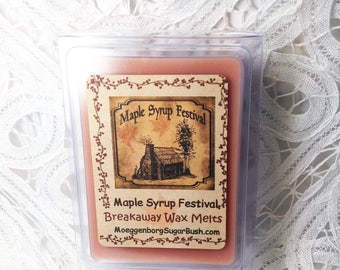 Wax Melts, Maple Syrup Festival, maple pecan melts  maple wax tart melts, breakaway melts, teacher gift, Moeggenborg Sugar Bush, candle melt