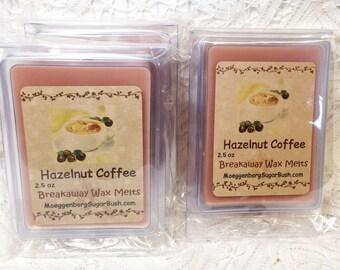 Hazelnut Coffee Wax Melt, Melts, tart, clam shell, breakaway, teacher gift, Moeggenborg Sugar Bush, coffee scent