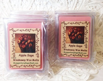 Wax Melts, Apple Sage Scent, Wax Tart Melts, Clamshell Tarts, Candle melts,  Moeggenborg Sugar Bush