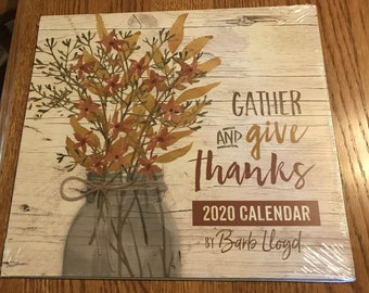 Calendar, farmhouse style, Barb Lloyd Calendar, Moeggenborg Sugar Bush, Give thanks, Christmas gift