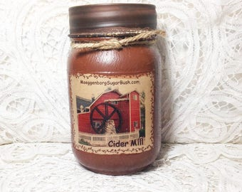 Grungy Jar Candle - Cider Mill