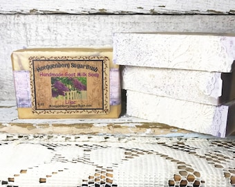 Goat Milk Soap, Lilac, One Bar,Cold Process,  Handmade, Mother's day, teacher gift, gift for her, Moeggenborg Sugar Bush