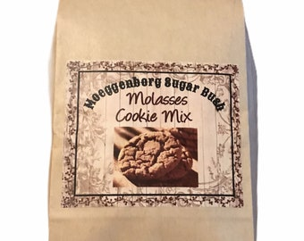 Molasses Cookie Mix, old fashioned cookies, ginger cookies Moeggenborg Sugar Bush,country wares