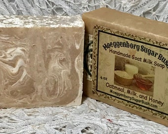 Oatmeal Milk Honey Goat Milk Soap Handmade Cold Process Goat Moeggenborg Sugar Bush