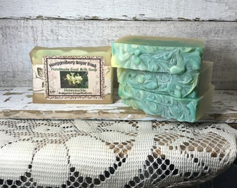Goats Milk Soap, Honeysuckle, Cold Process soap, Handmade soap, Made in Michigan, Made in the USA, Made in America,Moeggenborg Sugar Bush