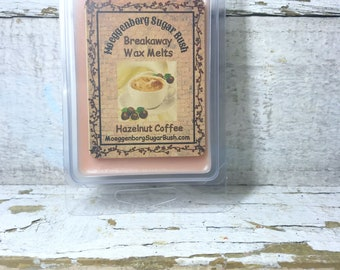 Hazelnut Coffee Wax Melt, Melts, tart, clam shell, breakaway, teacher gift, Moeggenborg Sugar Bush, Country wares, coffee scent