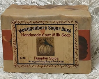 Pumpkin Spice Soap, goat milk soap, autumn scented, pumpkin fall soap, Moeggenborg Sugar Bush, gift for men, housewarming, teacher gift