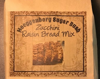 Zucchini Bread, raisins, spice, Moeggenborg Sugar Bush, quick mix, moist, housewarming gift