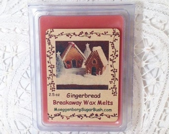 Wax Melts, Gingerbread, bakery scented wax tart melts, clamshell tarts, teacher gift, Moeggenborg Sugar Bush, gingerbread candle melts