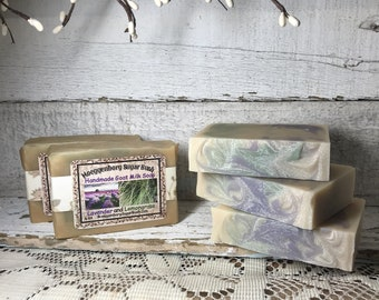 Lavender and Lemongrass, Goat Milk Soap,Maple scented, cold process,set of 3 bars,,Moeggenborg Sugar Bush