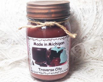 Made in Michigan Pint Jar Candle - Traverse City
