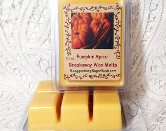 Wax Melts, Wax Tart Melts, Pumpkin spice, Autumn, Fall scented, Moeggenborg Sugar Bush, autumn scented, teacher gift,