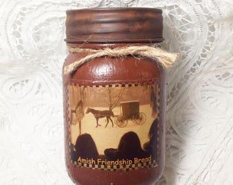 Homespun Memories Grungy Jar Candle - Amish Friendship Bread - 1 pint