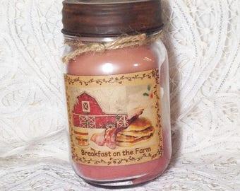 Pint Jar Candle - Breakfast on the Farm