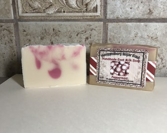 Peppermint,Goat Milk Soap,Handmade,Cold Process,Mothers Day,,Moeggenborg Sugar Bush,country wares,made in Michigan,made in the USA,,