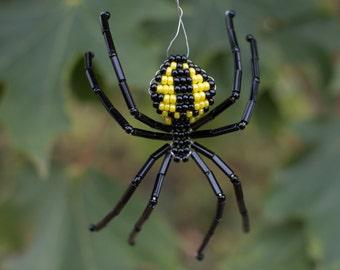 black yellow garden beaded spider - Garden Spider