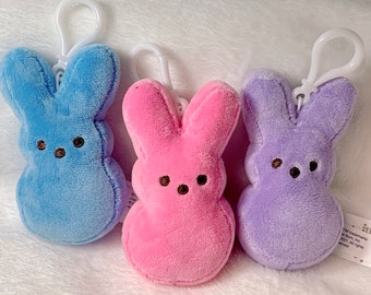 Personalized Plush Bunny Peep Clip On