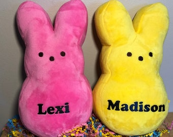 """Personalized Peep Plush Bunny 6"""" or 9"""""""