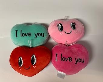 Personalized plush heart