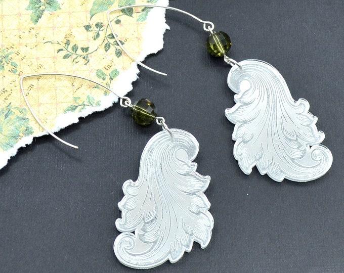 Grecian Flourish Laser Cut Acrylic Earrings