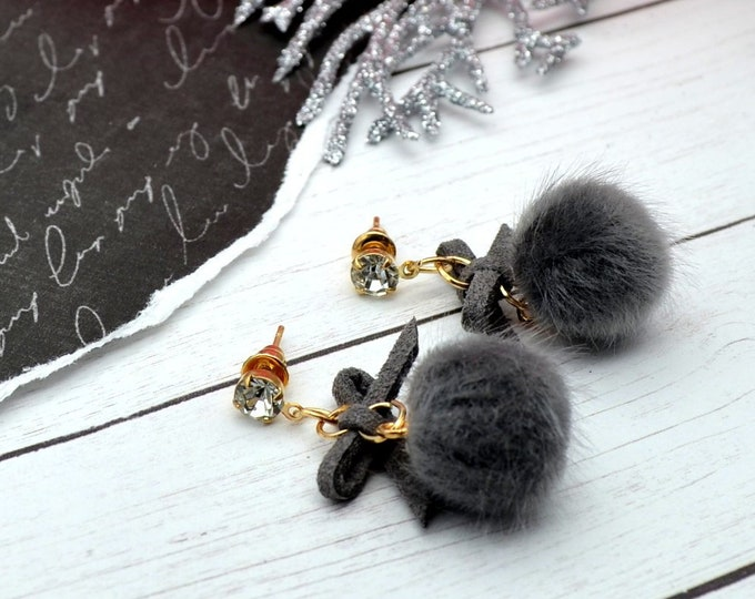 Pretty Pom Poms - Couture Charm Earrings