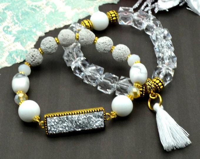 Crystal Goddess Bracelet Stack - 2 pack